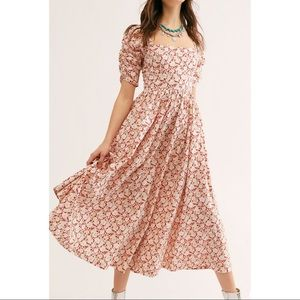 Free People She's A Dream Floral Midi Dress NWT